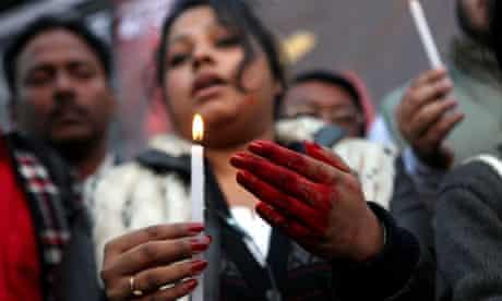 India gang-rape protester