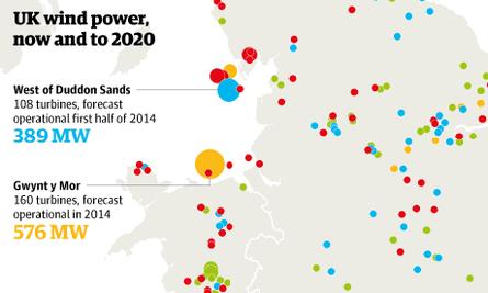 UK windfarm map