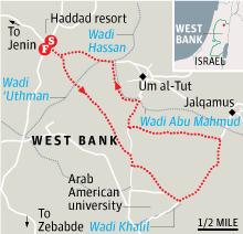 Map - Walking in Palestine, Jenin