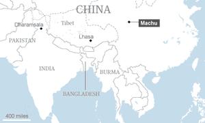 Map: Machu, Lhasa and Dharamsala