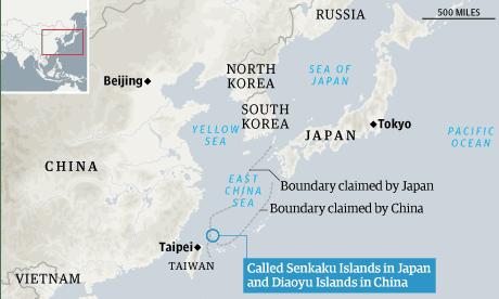 Map - Senkaku/Diaoyu islands