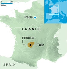 Location of Corrèze in France