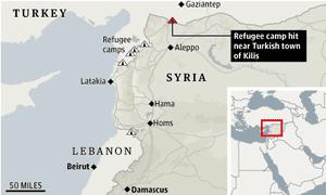 Turkish refugee camp