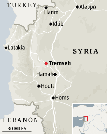 Tremseh, Syria locator