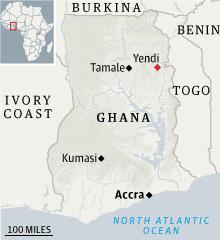 Yendi, Ghana locator