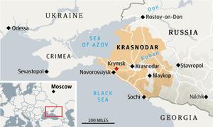 Russia flood map