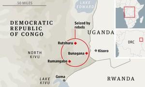 DRC rebel map