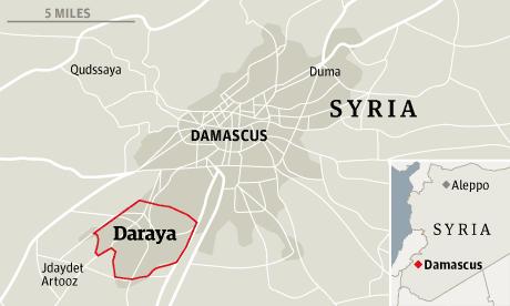 Daraya massacre map