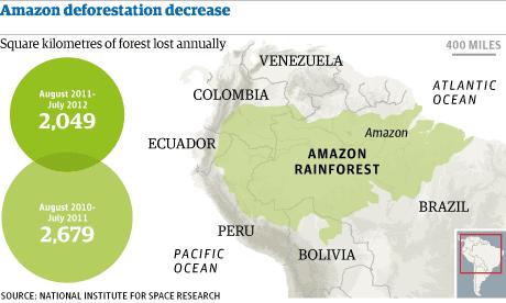 Amazon deforestation decrease