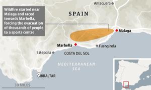 Malaga wildfires