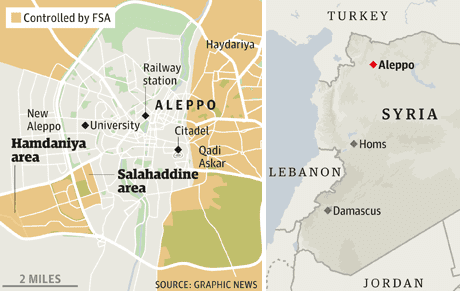 Syria Aleppo control map