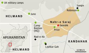 Afghanistan map of Nahr-e Saraj