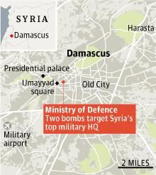 Syria, Damascus bombs