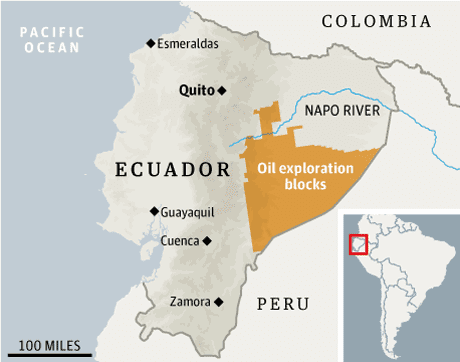 ecuador auctions off amazon to chinese oil firms world news the guardian