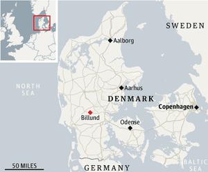 Denmark Legoland map