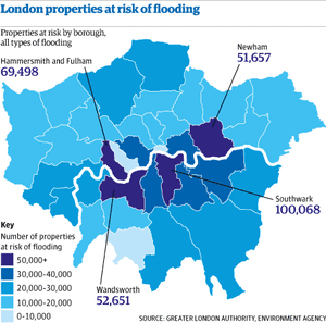 london flood risk map