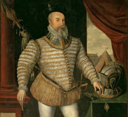 Portrait of Robert Dudley, Earl of Leicester (c.1532-88), 1585 (oil on panel)