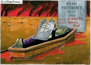 05.12.09: Martin Rowson on George Bush and Israel