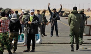 Rebel fighters, Ajdabiya, Libya.