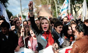 French demonstrate against pension reform