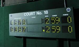 Mahut versus Isner at Wimbledon
