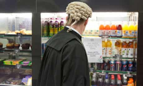 A barrister chooses what to have for lunch