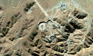 Satellite photo of what is believed to be a uranium-enrichment facility near Qom, Iran