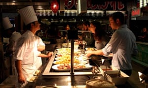 Diners on a test night in Za Za Bazaar, the largest restaurant in the UK, which will open in Bristol