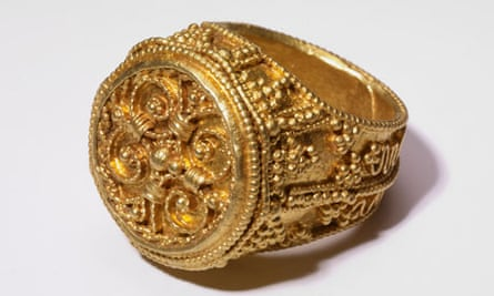 A Gold ring from the West Yorkshire Hoard