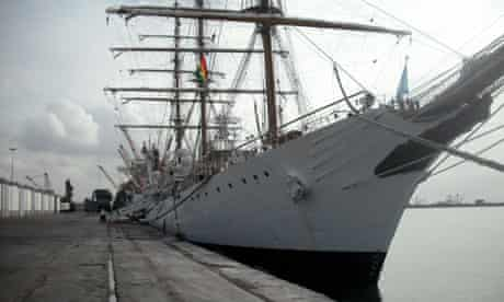 The Argentine frigate Libertad seized in Ghana
