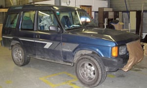The Land Rover belonging to 46-year-old Mark Bridger