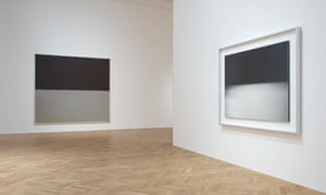 Installation view of Rothko/Sugimoto: Dark Paintings and Seascapes
