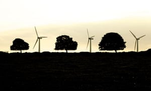 Turbines at the Royd Moor windfarm in West Yorkshire