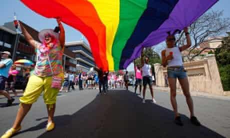Gay Pride march in Johannesburg
