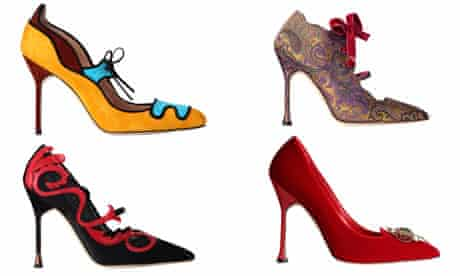 The shoes of Manolo Blahnik