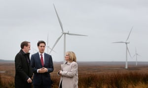Labour leader Ed Miliband visits Whitelee wind farm in Scotland