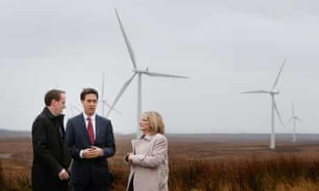 Labour leader Ed Miliband visits Whitelee wind farm in Scotland