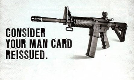 An advert for a rifle from Bushmaster Firearms