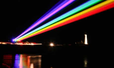 Global Rainbow by the American artist Yvette Mattern, at Whitley Bay