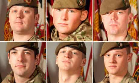 Six soldiers who were killed in a bomb blast in Afghanistan