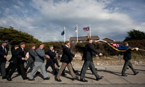 Veterans attend the commemoration of the 30th anniversary of the Falklands War