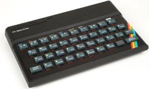 A Sinclair ZX Spectrum home computer