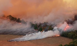 Wildfires burn near east of Drumright, Oklahoma