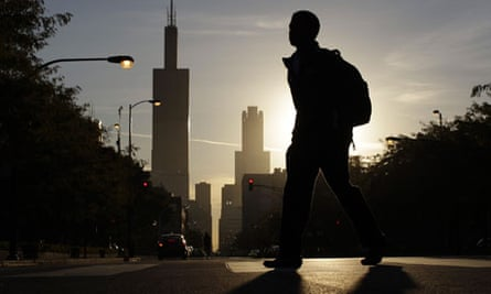 A student makes his way to class at Whitney Young High School in Chicago