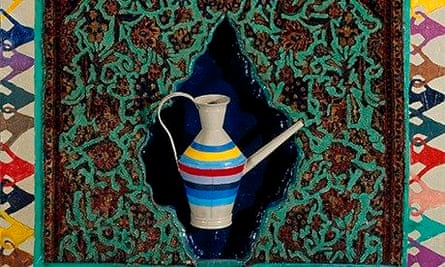 Detail from Parviz Tanavoli's Innovation in Art from the Iran Modern exhibition