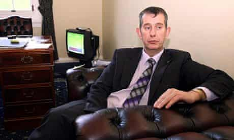 Health Minister Edwin Poots at Stormont in Belfast