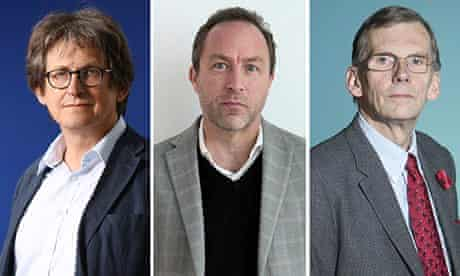 Alan Rusbridger, Jimmy Wales and Sir David Omand