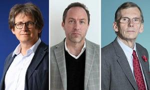 Alan Rusbrider, Jimmy Wales and Sir David Omand