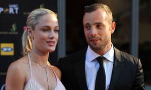 Paralympic athlete Oscar Pistorius and girlfriend, Reeva Steenkamp