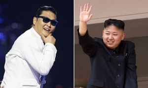Psy and Kim Jong-Un.
